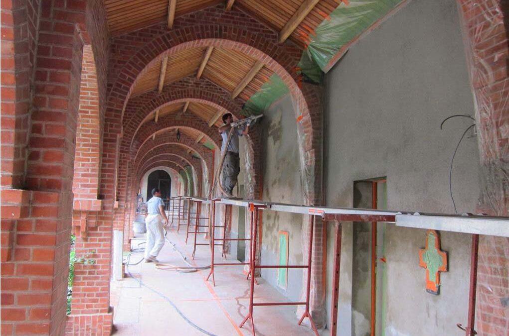 Cimentage hydrofuge à l'Abbaye de Rochefort